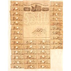 Gold Rush San Francisco City Bond signed by DJ Tallant