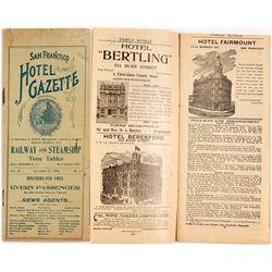1898 San Francisco Hotel Gazette (by Southern Pacific)