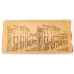 c.1869 Stereoview of Metropolitan Theatre in San Francisco