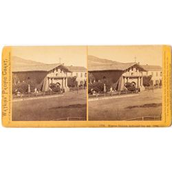 c.1874 Watkins Stereoview of Mission Delores, San Francisco