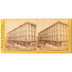 c.1874 Watkins Stereoview of Occidental Hotel, San Francisco
