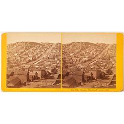 Choice San Francisco Bird's-Eye View of Russian Hill by Kilburn