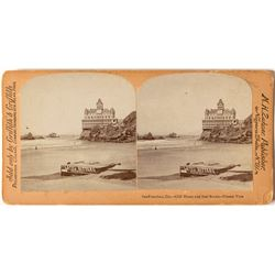 Cliff House Stereoview featuring Lash's Bitters Advertising