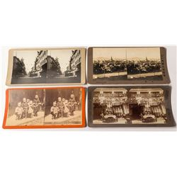 Four Chinese in San Francisco Stereoviews