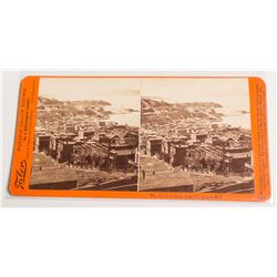 San Francisco, Telegraph Hill Stereoview by Taber, c.1880
