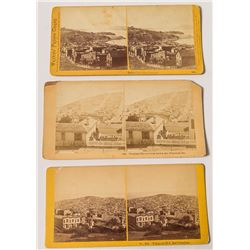 Three Different Telegraph Hill, San Francisco Stereoviews