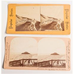 Two Early Stereoviews of Alcatraz