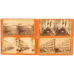 Four San Francisco Stereoviews by Thomas Houseworth