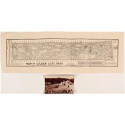 Golden Gate Park Map & Antique Photograph