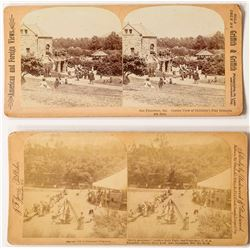 Two Stereoviews of an Early Playground at Golden Gate Park