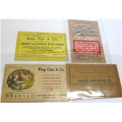 Four San Francisco Chinese Advertising Cards