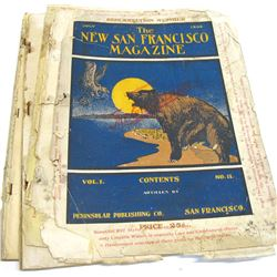 New San Francisco Magazine May and July 1906, First Issues Post Earthquake