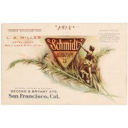 Schmidt Lithograph Co. Business Card