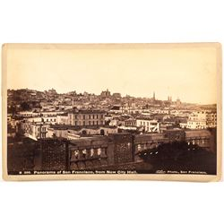 Panorama Cabinet Card of San Francisco by Taber