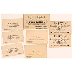 San Francisco Druggist & Cigar Business Cards