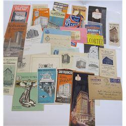 San Francisco Hotel Promotional File