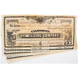 California Fertilizing Co. Stock Certificates (GT Brown Litho)