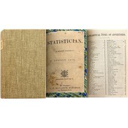 Statistician, August 1875 (Pacific Coast Almanac)