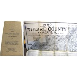 1920 Official Map Tulare County