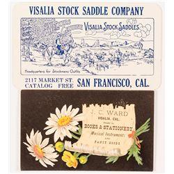 Visalia CA Trade Card and Business Card