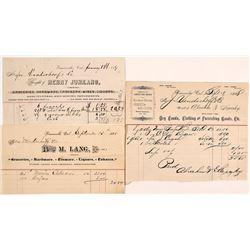 Three Weaverville, California Billheads (1888-89)