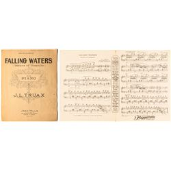 Falling Waters (Waters of Yosemite) Piano Sheet Music by J. L. Truax