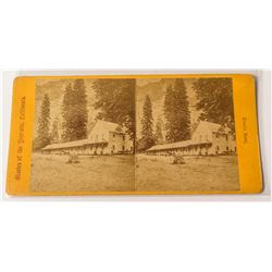 Yosemite Stereoview Collection: Black's Hotel, c.1869