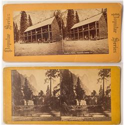 Two Different Yosemite Hotel Stereoviews