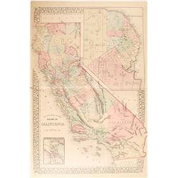 California Map Collection incl. 1851 San Francisco