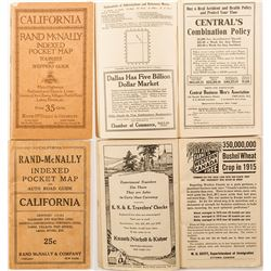 2 California Indexed Pocket Maps (1919 and 1920s)