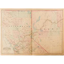 2 Maps of California & Nevada
