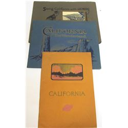 3 California Tourist Booklets