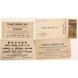 California & Western Chinese Business Cards