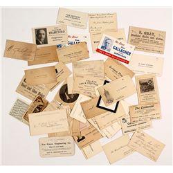 California Business Cards, c.1880-1910