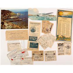 California Steamship Passes & Ephemera