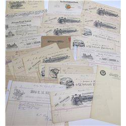 Merced, Fresno, and Gridley Billhead Collection Plus Other Ephemera