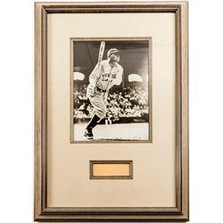 Framed Babe Ruth Autograph & Photograph
