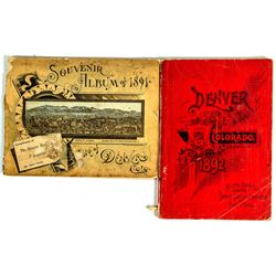Denver Tourism  and Souvenir Booklets, 1891 & 1892
