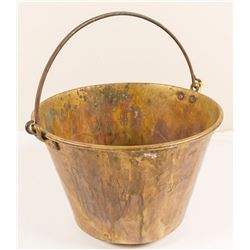 Bronze-Brass Antique Bucket (E. Miller & Co., Meriden, Connecticut)