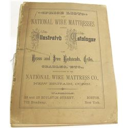 1881 Price List of National Wire Mattress Co., New Britain, Connecticut