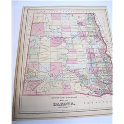 1884 Dakota Territory Map