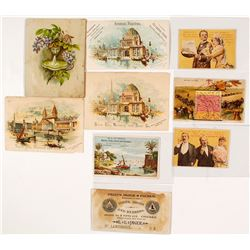 Dakota Territory and Nebraska Trade Cards