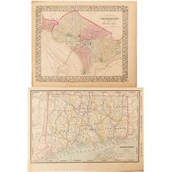 Maps of Washington, D.C., & Connecticut  c.1870s