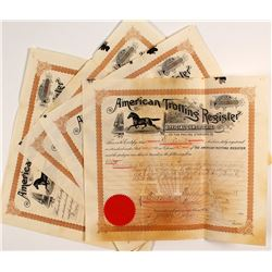American Trotting Register Official Certificates, 1892-93 (Horse Registration)