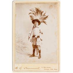 Cabinet Card of Costumed Child, Chicopee Falls, Massachusetts