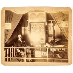 Photograph of Dr. J. Hawkins, Detroit Veterinarian, Booth at an Exhibition