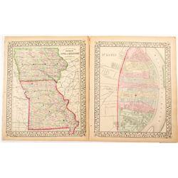 Maps of Iowa, Missouri