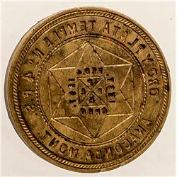 Order of Eastern Star Brass Seal, Anaconda, Montana