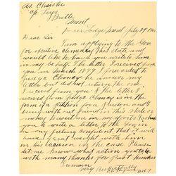 Deer Lodge, Montana Prisoner Letter: Writing to Ask for Clemency