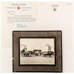 Montana Auto Ephemera: One Photograph and Two Letterheads